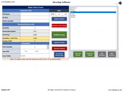 Invoicing - Invoice Management