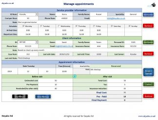Managing appointments software