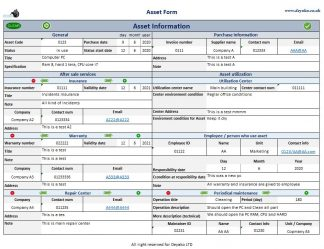 Track and manage company assets
