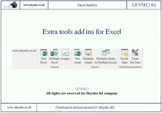 Extra tools add ins for Excel